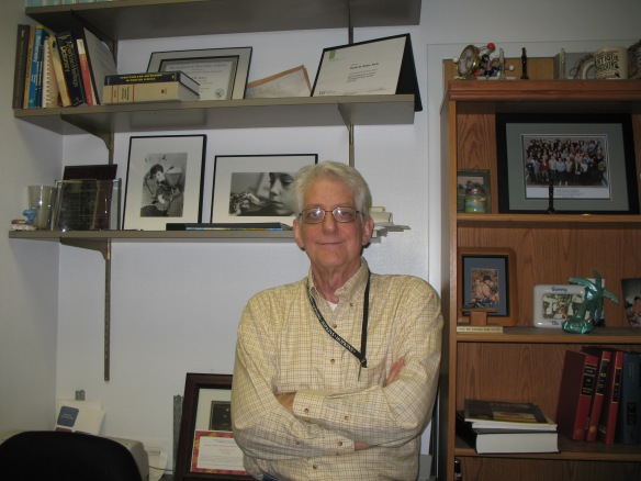 Dan Raben, in his office.